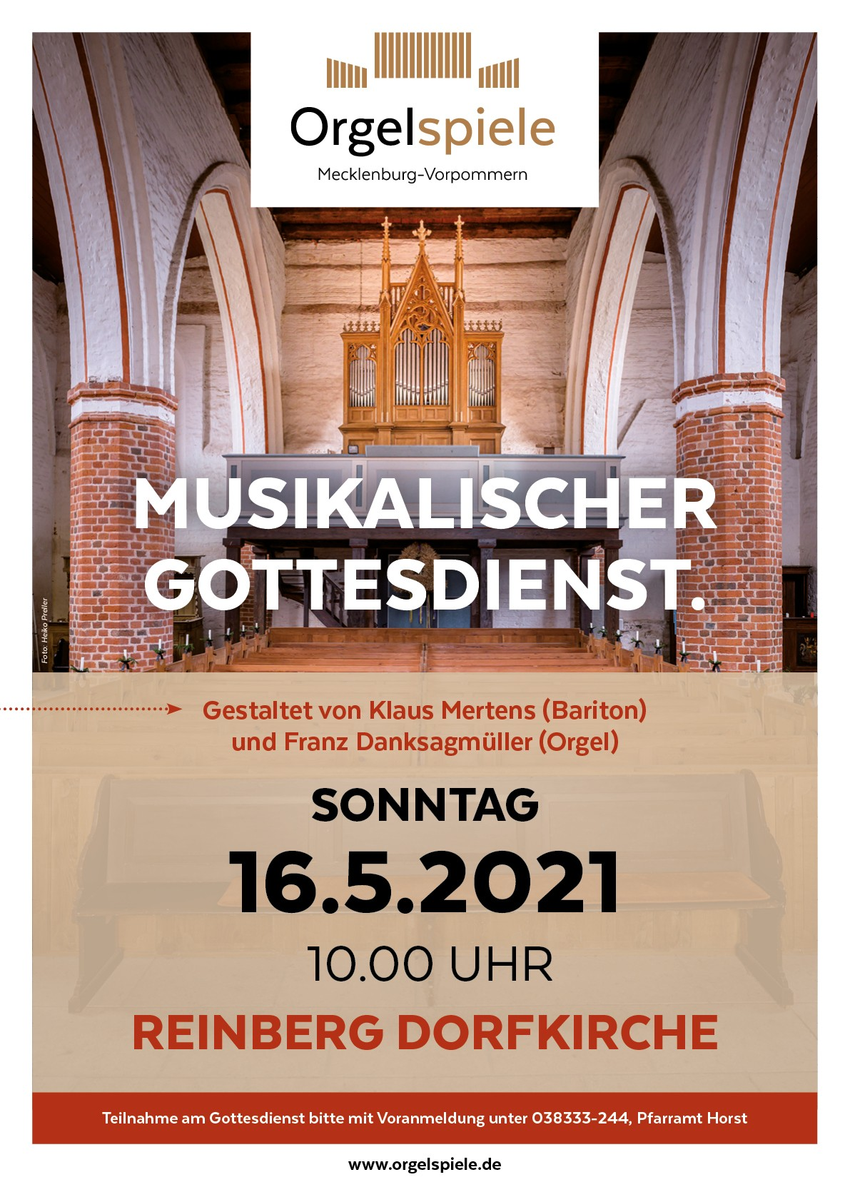 Musikalischer Gottesdienst in Reinberg – Herzliche Einladung