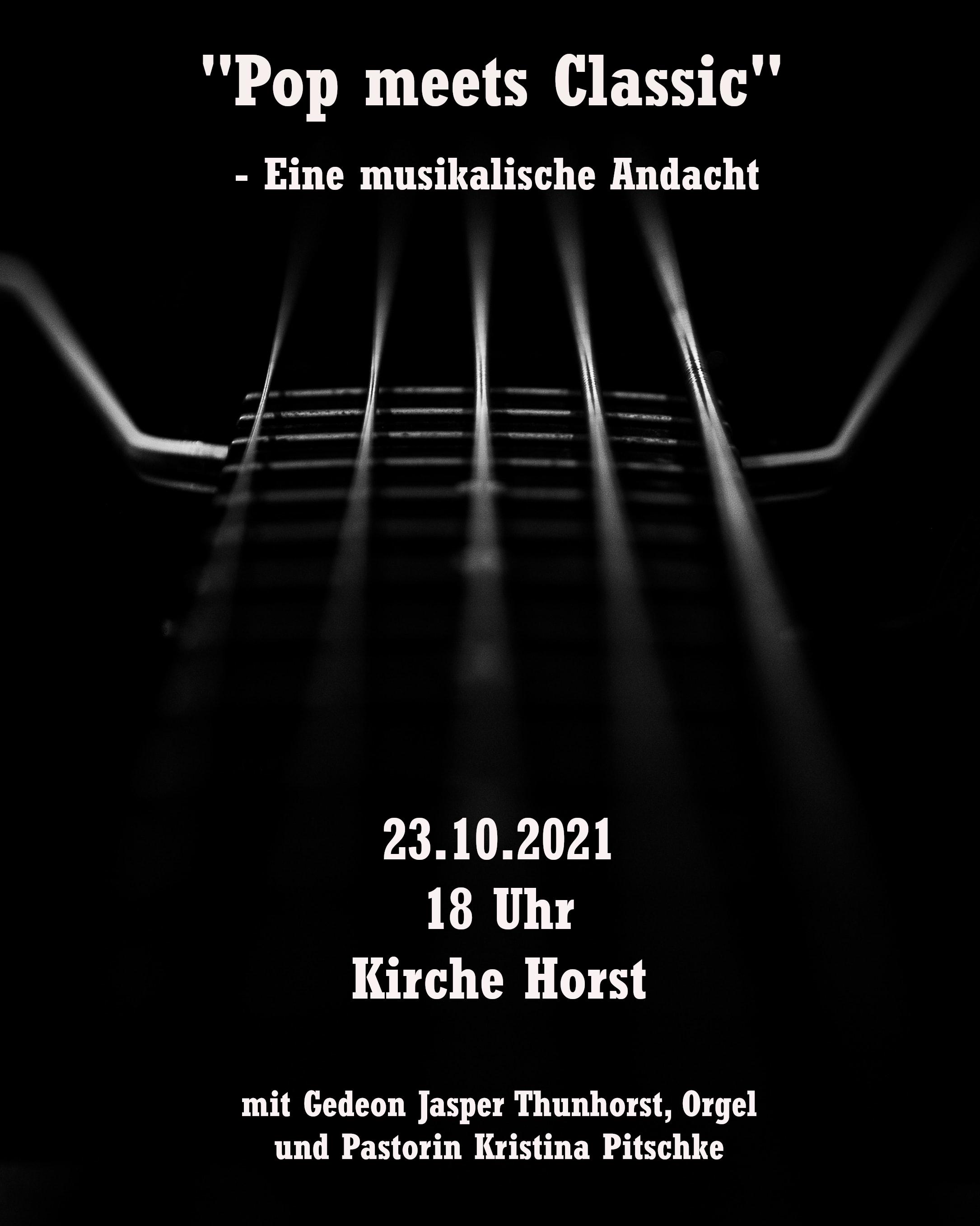 """""""Pop meets Classic"""" - Eine musikalische Andacht - """"Kirchen am Sund"""""""